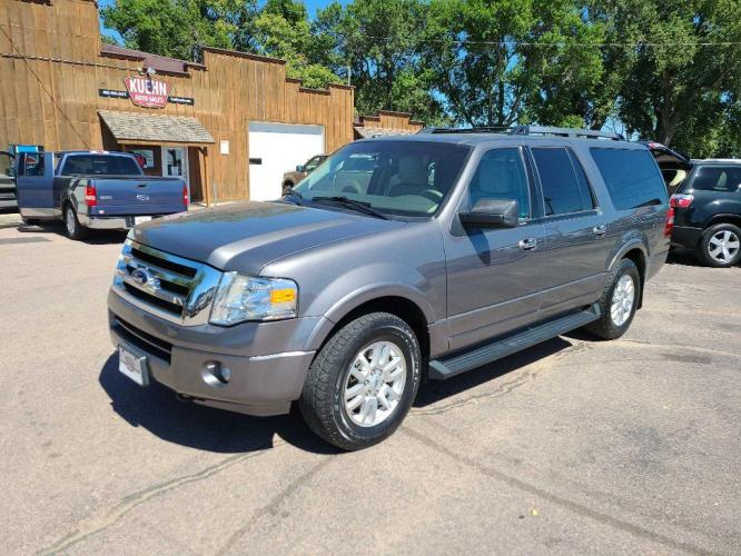 2014 GREY FORD EXPEDITION EL XLT (1FMJK1J50EE) with an 5.4L engine, Automatic transmission, located at 495 Old Highway 20 West, South Sioux City, NE, 68776, (402) 494-2677, 42.458408, -96.443512 - Photo #0